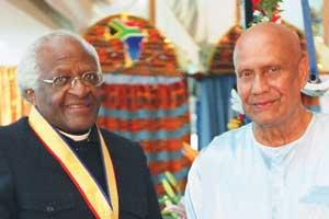 Sri Chinmoy und Erzbischof Tutu